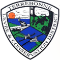 Terrebonne Levee ∧ Conservation District Logo